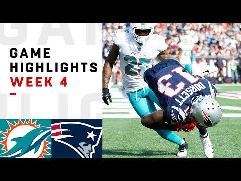 Dolphins vs. Patriots Week 4 Highlights | NFL 2018