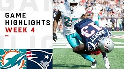 Dolphins vs. Patriots Week 4 Highlights | NFL 2018