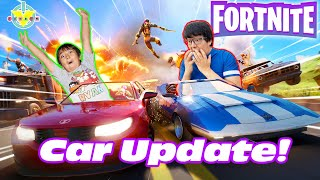 Ryan using ONLY VEHÏCLES in FORNITE! Let's Play Fortnite with Ryan's Daddy
