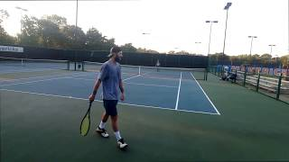 NTRP 4.5 practice with ATP Pro / Former Div 1 Tennis Player - Practice games and some rallies