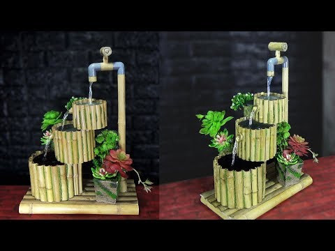 HOMEMADE WATER FOUNTAIN IDEAS from BAMBOO