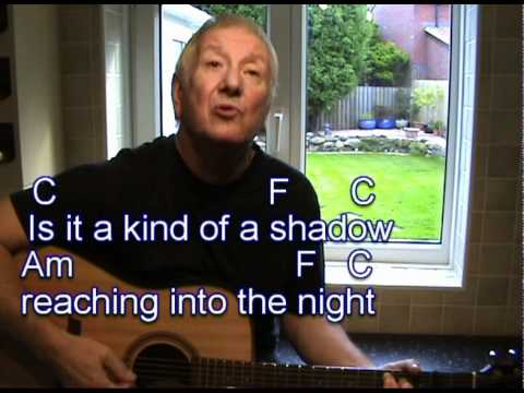 Bright Eyes - Art Garfunkel cover easy chords guitar lesson - on-screen lyrics and chords