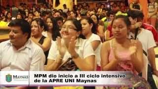 MPM Inicio III ciclo APREUNI Maynas