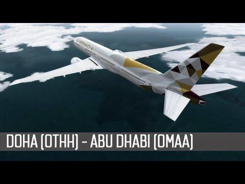 [P3D] Boeing 777-300ER | Etihad Airways | Doha (OTHH) - Abu Dhabi (OMAA)