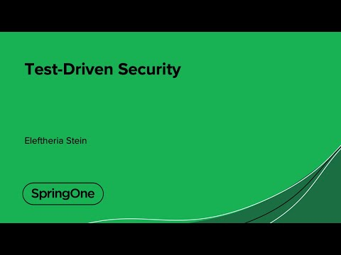 Test-Driven Security