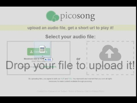 Picosong - Free MP3 Upload Hosting