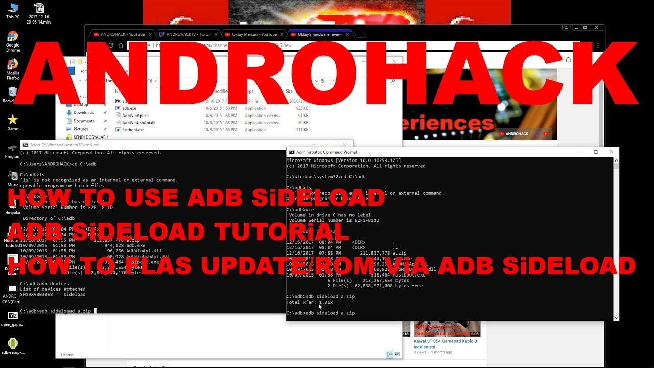 Adb Sideload nasıl kullanılır? How to use flash command