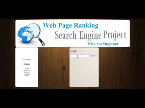 Webpage Ranking Search Engine With Seo Suggestor
