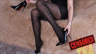 Примеряю чулки и колготки    Stockings   tights  amp  shoes