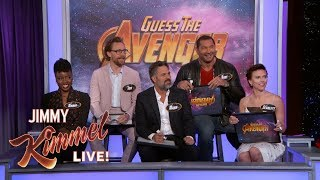 The Cast of Infinity War Plays \'Guess the Avenger\'