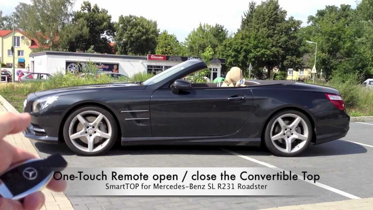 small resolution of mods4cars smarttop for mercedes benz sl r231 one touch top open close remote while driving youtube