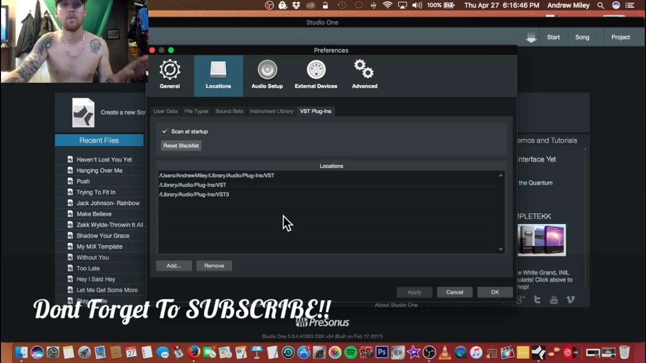 VST Plugins -Studio One