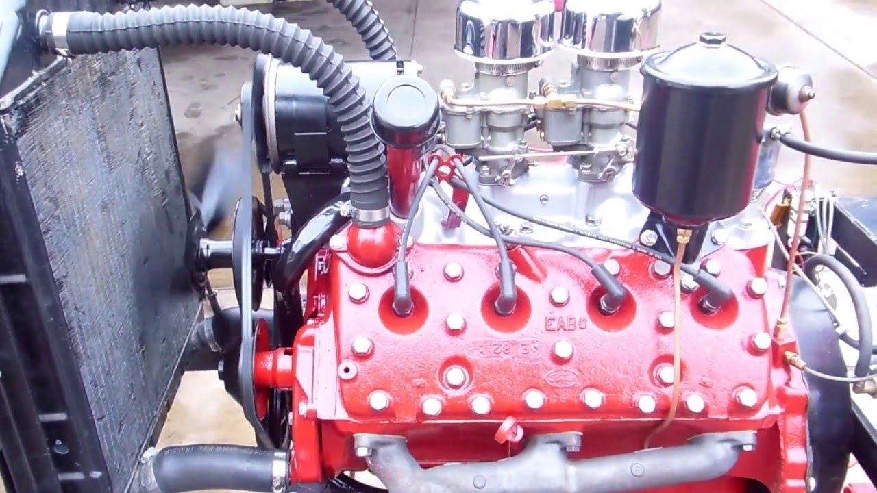 Ford Flathead 239 8ba Rebuilt Engine Running Youtube