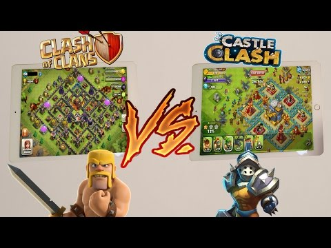 CLASH OF CLANS VS RIPOFFS (Castle Clash/Game Of War)