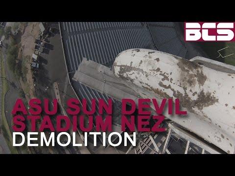 ASU Sun Devil Stadium North End Zone Demolition