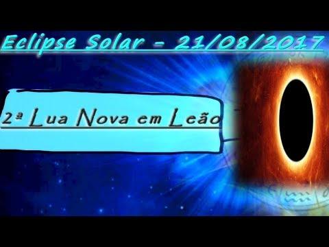 Mapa do ECLIPSE SOLAR: 21 de Agosto 2017| 2ª LUA NOVA em LEÃO - LUNAÇÃO - Encontros Astrológicos