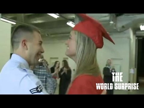 Soldier Returns Home, Surprises Sister at Graduation