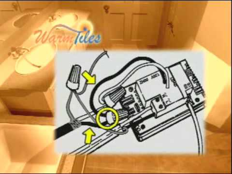 Warm Tiles Installation  Thermostat Wiring, 120V Units