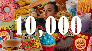 10,000 CALORIE CHALLENGE! | GIRL VS FOOD....HOW MUCH WEIGHT DID I PUT ON!?