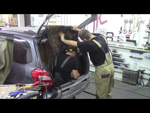Калина Кросс, финалочка #3. Body repair after an accident.