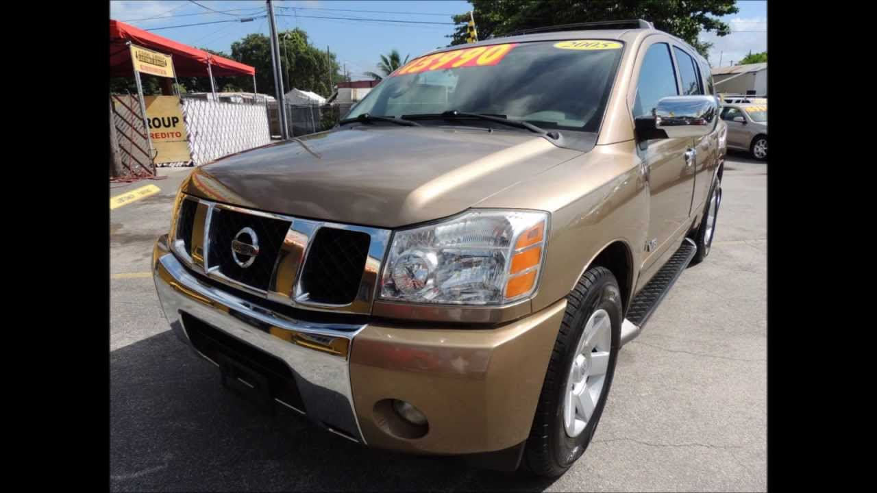 2005 Nissan Armada LE! Coral Group Miami Used Cars for Sale - YouTube
