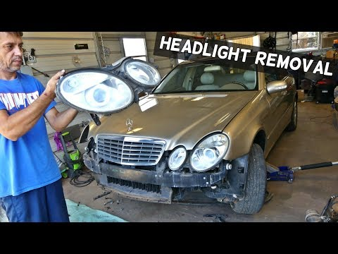 HOW TO REMOVE AND REPLACE HEADLIGHT ON MERCEDES W211