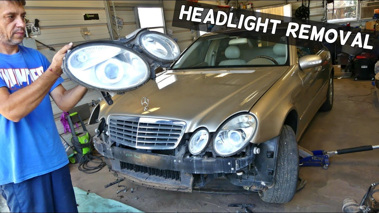how to remove and replace headlight on mercedes w211 [ 1280 x 720 Pixel ]