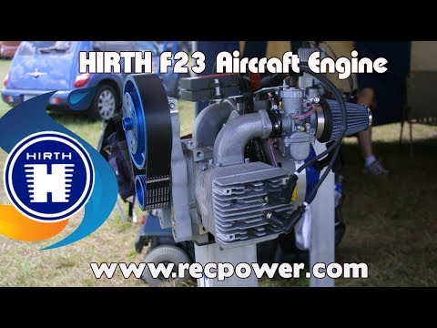 F23, HIrth F23, twin cylinder opposed 50 HP, 2 stroke Hirth aircraft engine