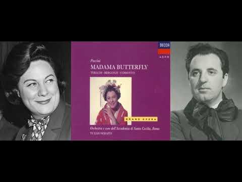 Madama Butterfly: Act I (Love Duet) - Bimba, non piangere...Viene la sera - Tebaldi, Bergonzi (1958)