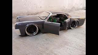 Unboxing Jada Toys Lincoln Continental HE (Hobby Exclusive) Dark grey metallic colour