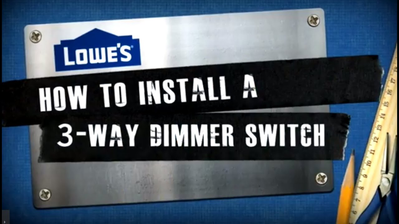 How To Install A 3 Way Dimmer Switch Youtube