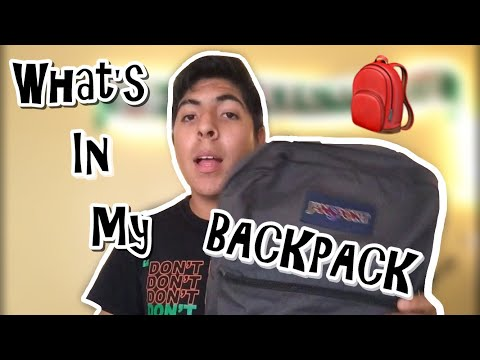 What's In My Backpack || 2018