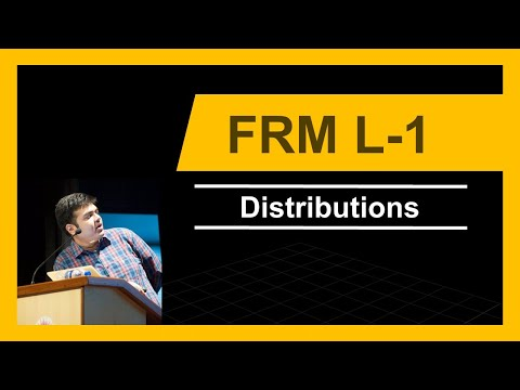 FRM Level 1 | Distributions | 2017