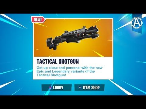 NEW LEGENDARY TACTICAL SHOTGUN Gameplay Soon! // Use Code: byArteer (Fortnite Battle Royale LIVE)