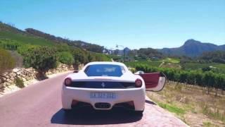 Driving a Ferrari 458 Italia around Cape Town