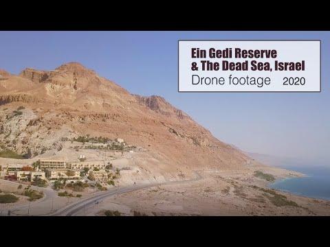 Ein Gedi Reserve \u0026 The Dead Sea, Israel Drone Footage | צילומי רחפן שמורת עין גדי וים המלח
