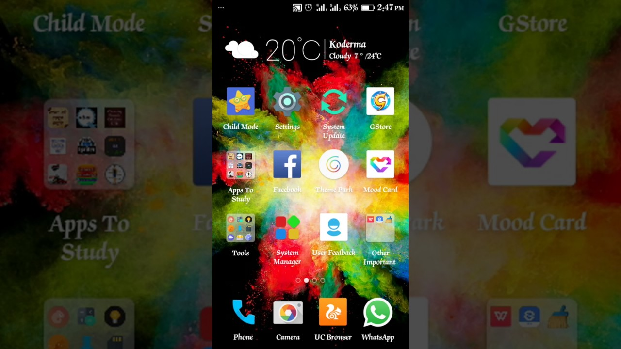 How to enable screen pining on Gionee p5 mini