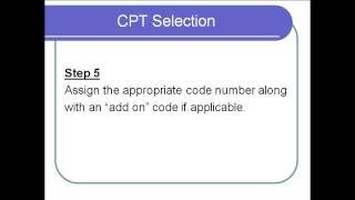 Select the appropriate CPT Code