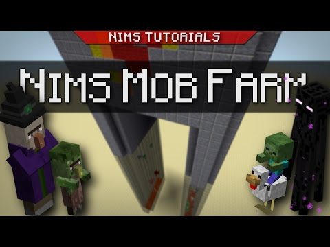 Minecraft: Tutorial | How to Build a Sweeper Mob Farm