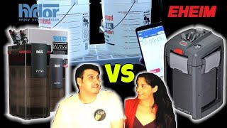 Eheim Pro 4+ 350 VS Hydor Pro 350 Flow Rate FACE OFF & Canister Review