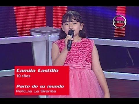 Camila canta Parte de su mundo de la Sirenita - La Voz Kids Perú - Semifinales - Temporada 1