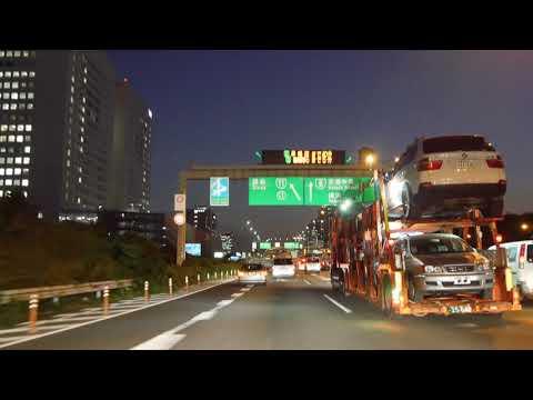 Tokyo night drive 4K 2017 東京 豊洲 汐留