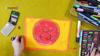 Уроки рисования для детей. Учимся рисовать кота вместе с художницы Ольгой Адам
