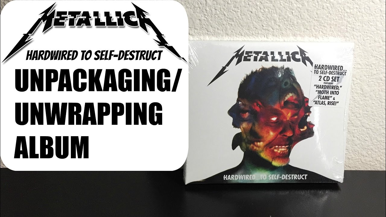 unwrapping metallica 39 s hardwired to self destruct album cd youtube. Black Bedroom Furniture Sets. Home Design Ideas