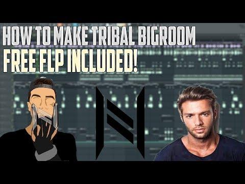 How to make Tribal Bigroom (Like: Steven Vegas , Kura , Gama etc....) FREE FLP INCLUDED!