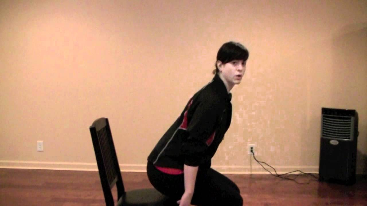 Chair Sit To Stand Exercise Kids Kore Wobble Up And Down Personal Training Of The Day Youtube