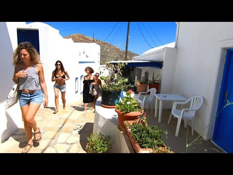 A Tour of Hora Town on Anafi Island, Greece