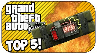 Top 5 STICKY BOMB KILLS in GTA 5! (Episode #49)