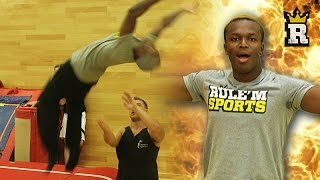 KSI DOES THE PERFECT BACKFLIP!!! | Rule'm Sports