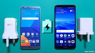 Huawei Mate 10 Pro VS LG G6 - Battery Charging Speed Test (4K)